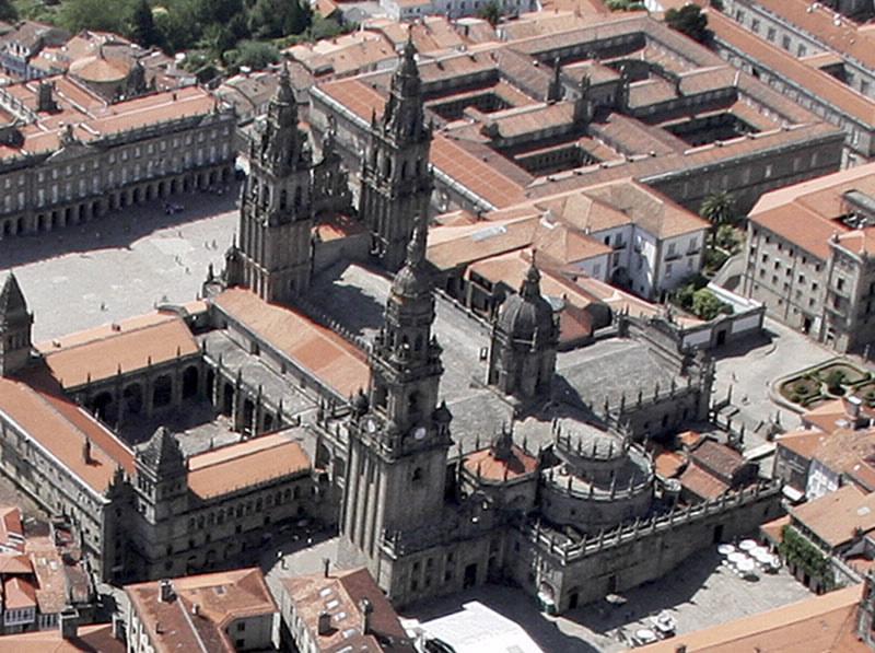 Catedral de Santiago de Compostela - Vista Aérea