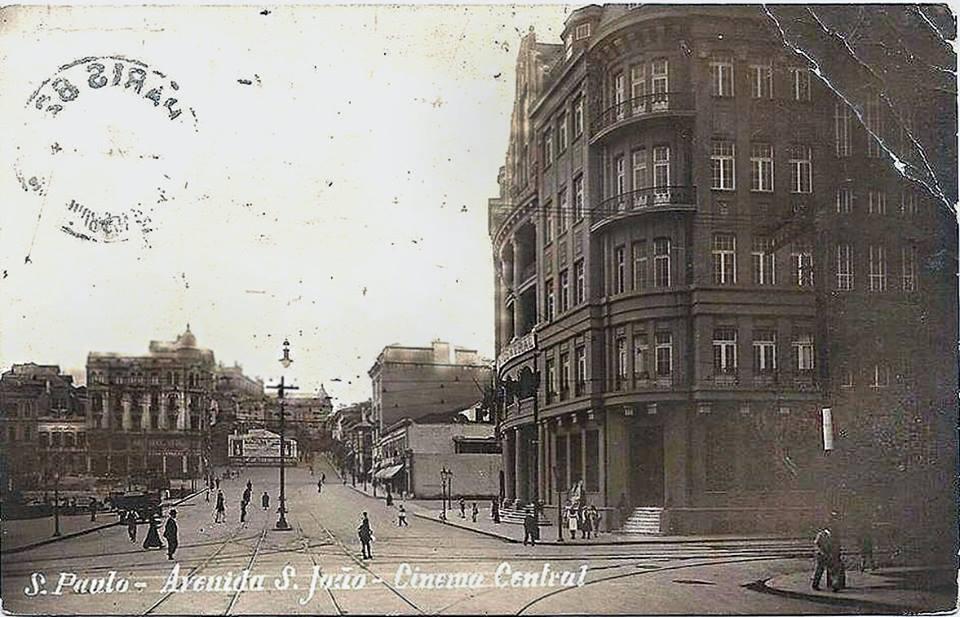 Cinema Central - Avenida São João - 1918