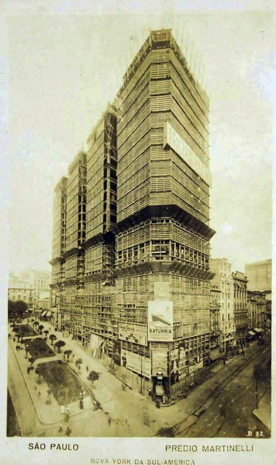 Edifício Martinelli - Em construção