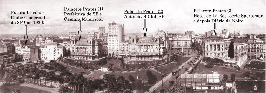 Edifício Sampaio Moreira - Em meio aos Palacetes de SP - 1928