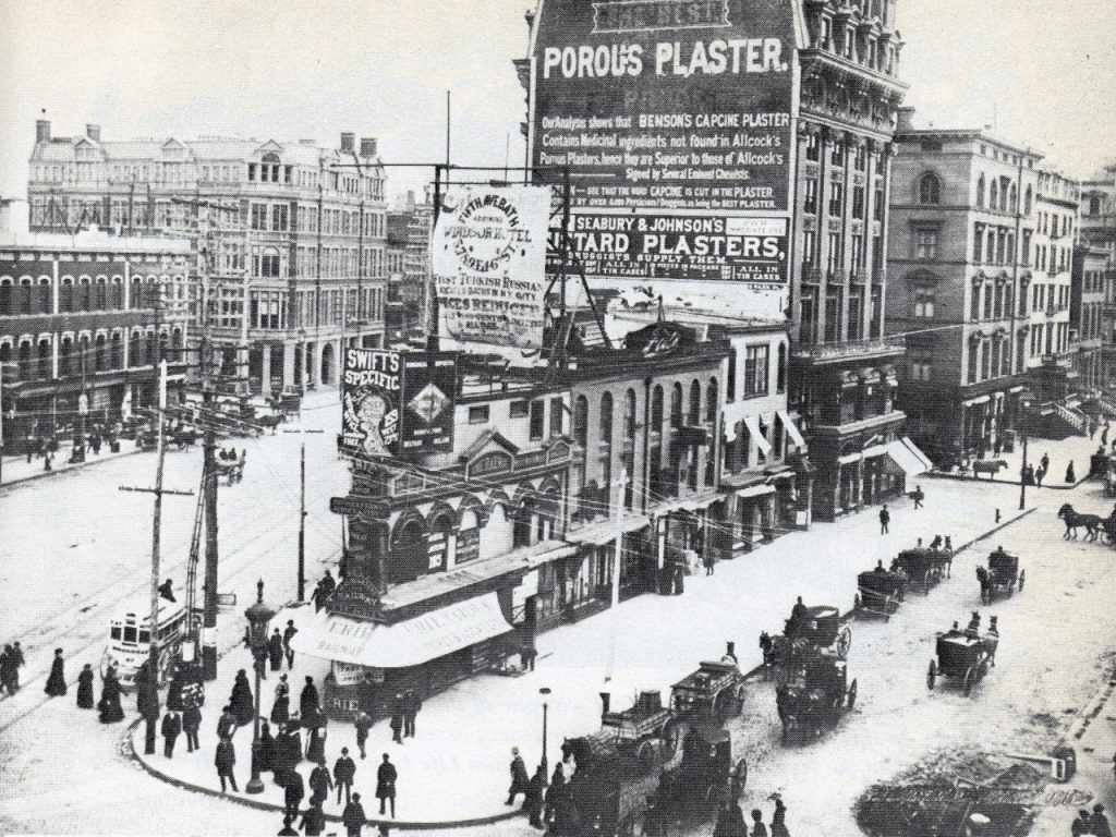 Fifth Ave & 23rd St - before the Flatiron building - 1884