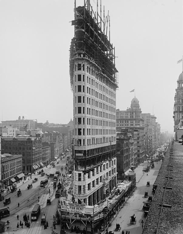 Flatiron Building - durante a construção - Cerca de 1900