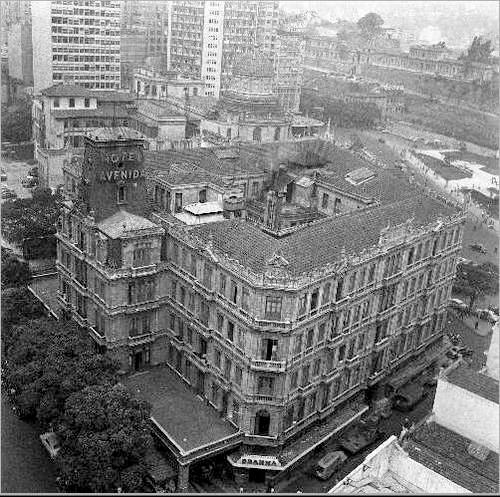 Hotel Avenida - pouco antes de ser demolido - 1950 circa