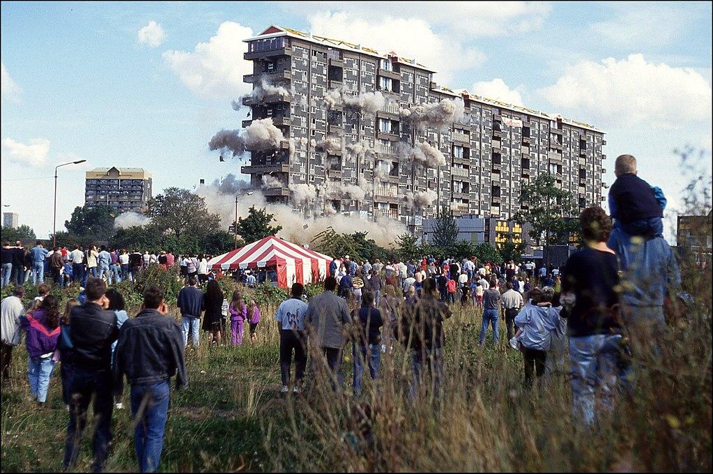 Queen Elizabeth Square flats - Glasgow - Demolido em 1993