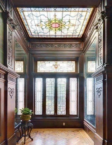 Vestíbulo - Brooklyn Brownstone - NY ~1900 - Louis Bonert - Beaux Arts style