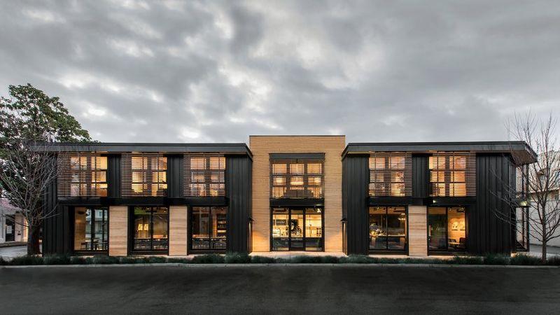 fachada estilo industrial