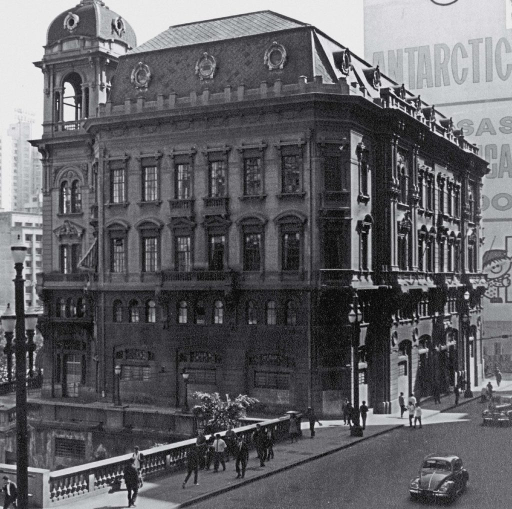 Palacete Prates - Visto da Rua Libero Badaro - 1960