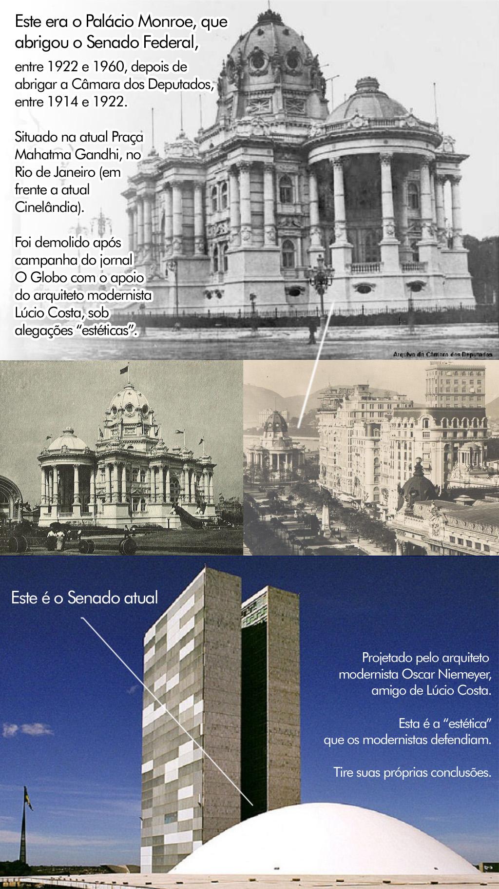 Senado Brasileiro - Antes e Depois do Modernismo