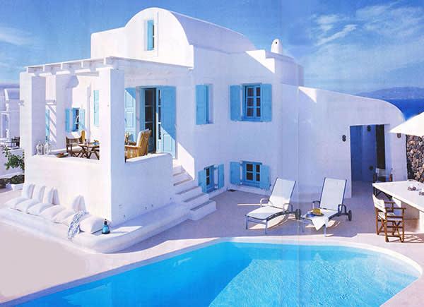 Casa típica da Ilha de Santorini