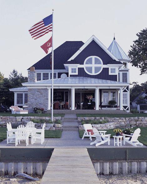 Típica casa de Veraneio Americana