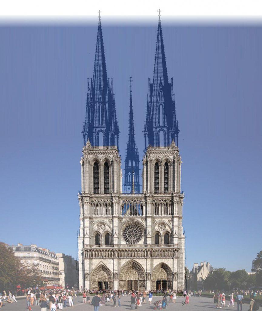 O projeto original da Catedral de Notre-Dame - Projeção