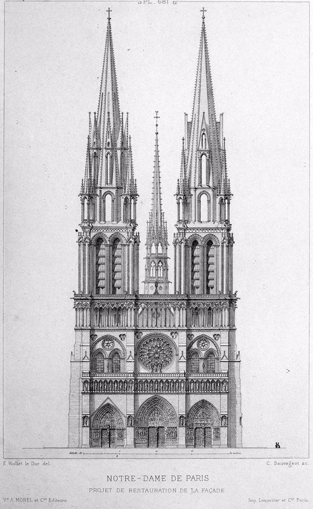 O projeto original da Catedral de Notre-Dame