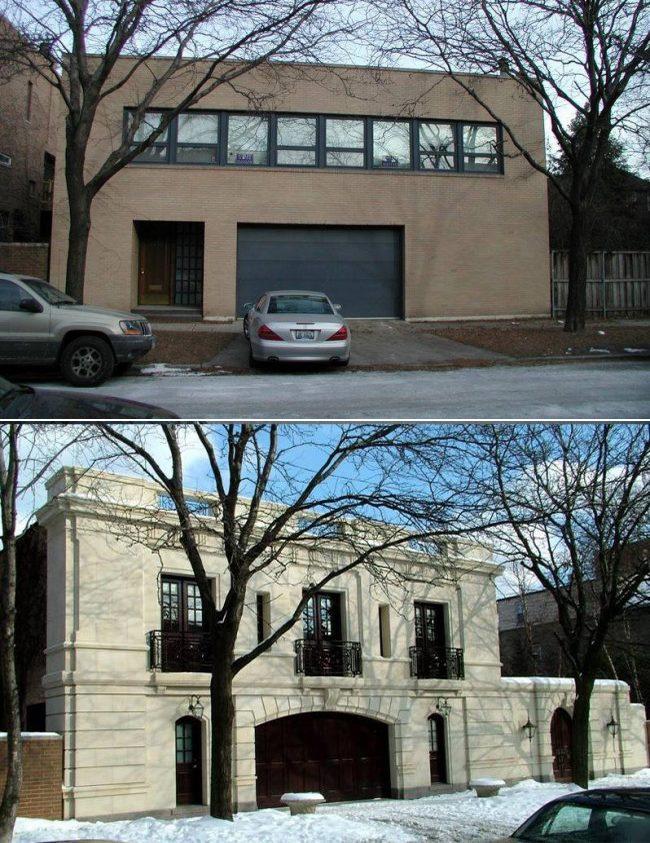 casa modernista demolida - chicago